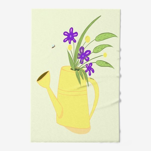 Полотенце «Лейка с цветами. Подарок бабушке. Подарок дачнице, садоводу»