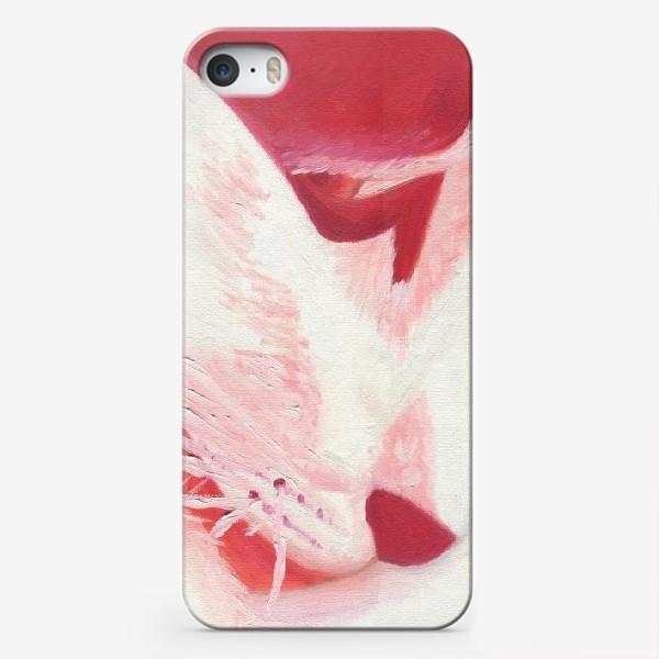 Чехол iPhone «Красный кот. Масло»