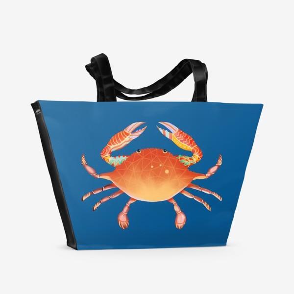 Пляжная сумка «Рак. Подарок для рака»