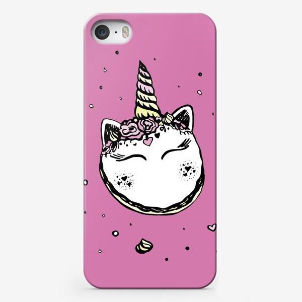Чехол iPhone «Волшебный маккарун единорог»