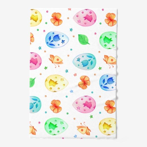 Полотенце «Разноцветные пасхальные яйца»