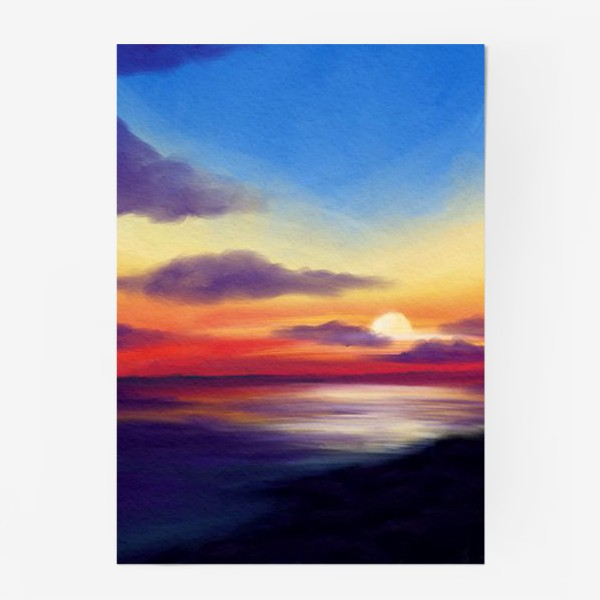 Постер «Морской закат»