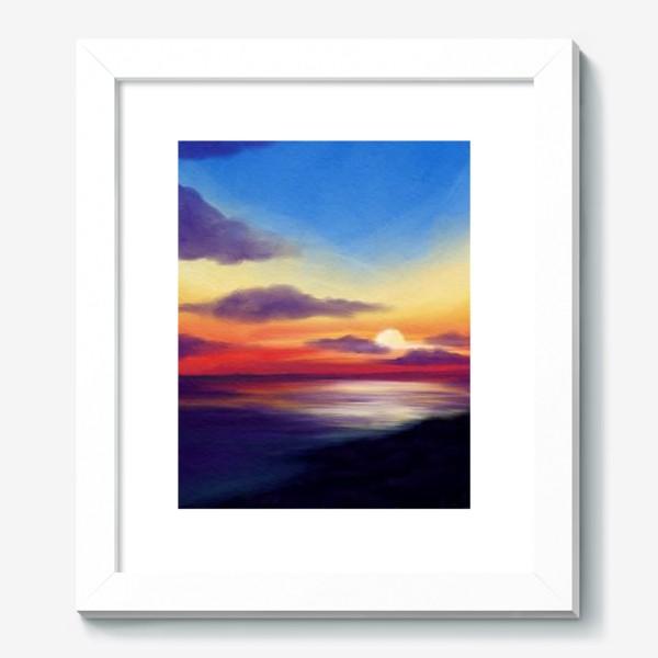 Картина «Морской закат»