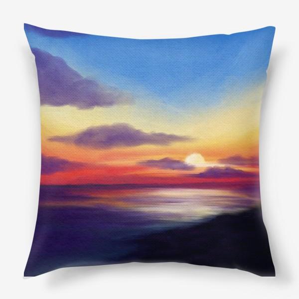 Подушка «Морской закат»