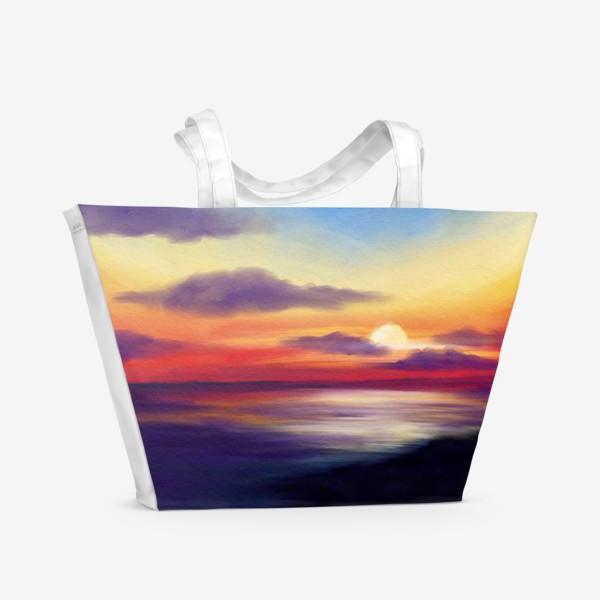 Пляжная сумка «Морской закат»