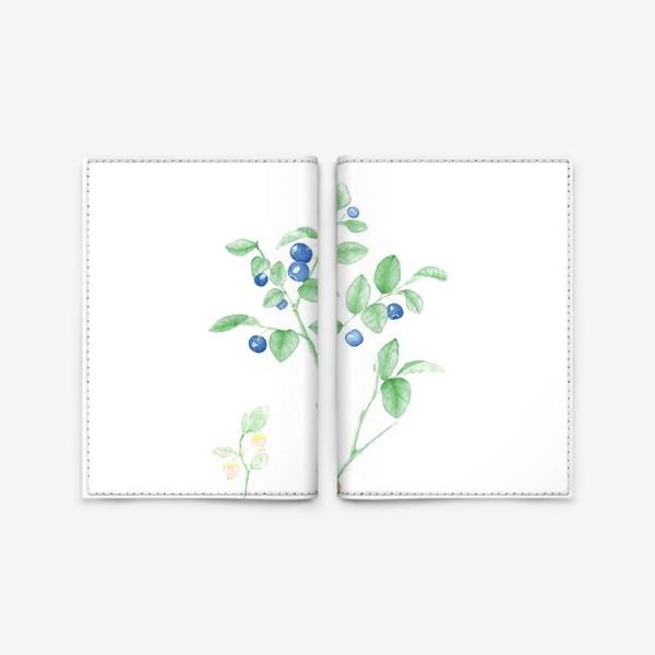Обложка для паспорта «Черника(vaccinium myrtillis)»