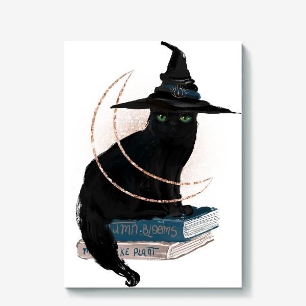 Холст «Черная кошка»