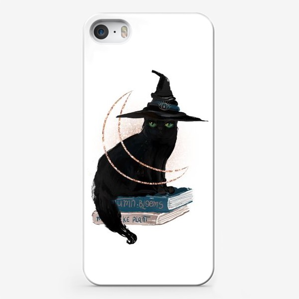 Чехол iPhone «Черная кошка»