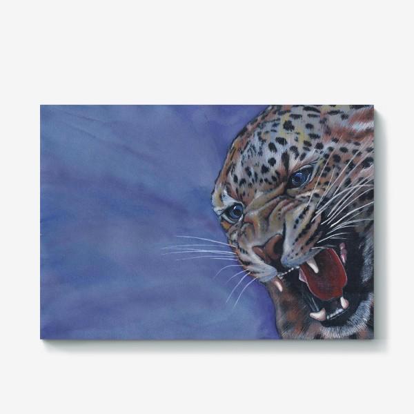 Холст «Леопард »