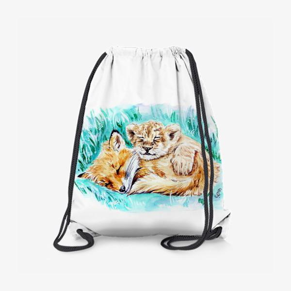 Рюкзак «Лисенок и львенок»