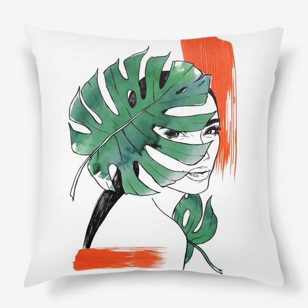 Подушка «Тропическая мадам»