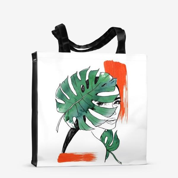 Сумка-шоппер «Тропическая мадам»