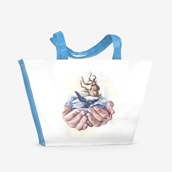 Пляжная сумка «Потребляй ответственно»