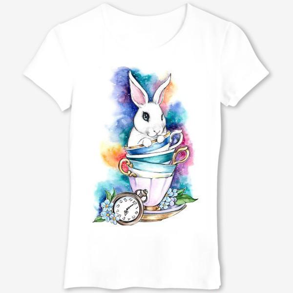 Футболка «Белый кролик Алисы»