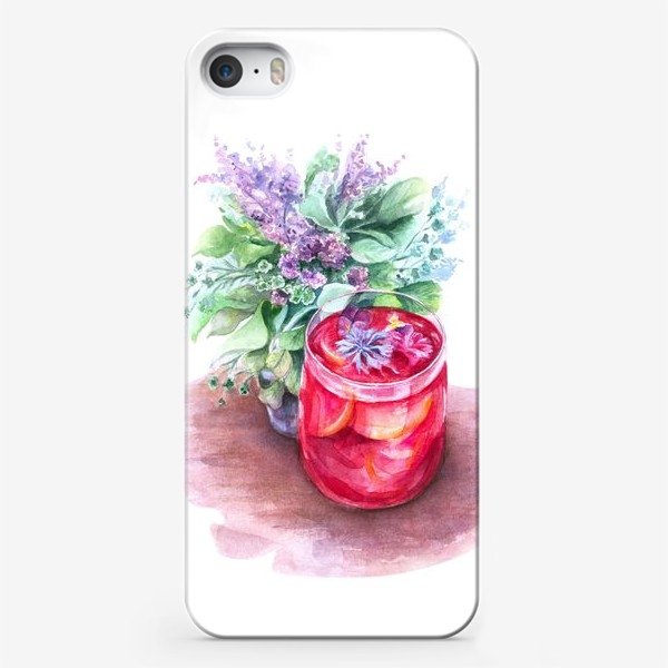 Чехол iPhone «Летний чай. Акварель»