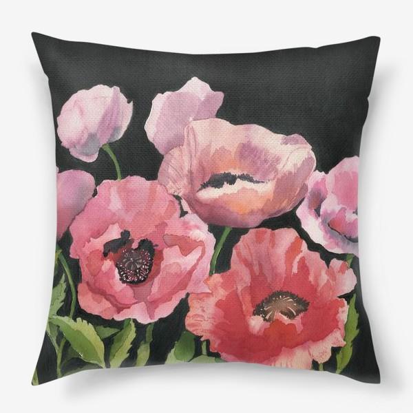 Подушка «Розовые маки»