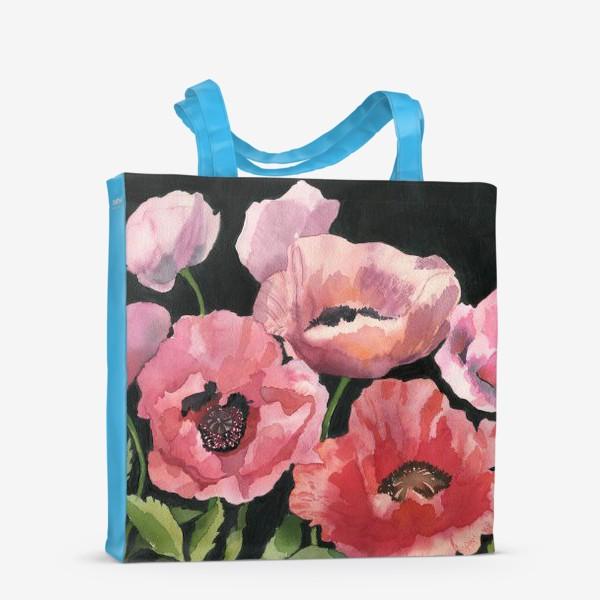 Сумка-шоппер «Розовые маки»