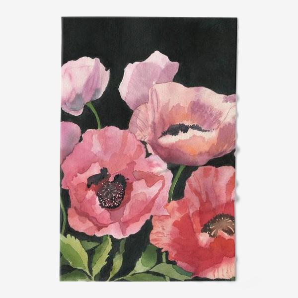 Полотенце «Розовые маки»