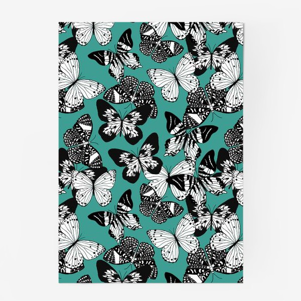 Постер «Бабочки графика»