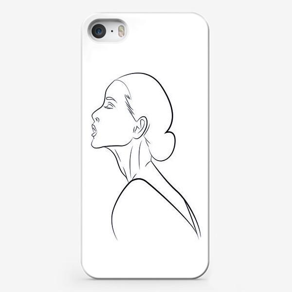 Чехол iPhone «Контур девушки»