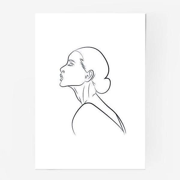 Постер «Контур девушки»