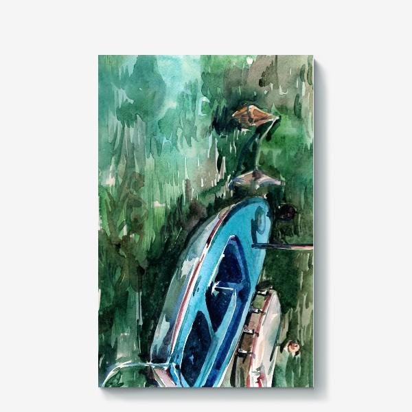 Холст «Голубая лодка»