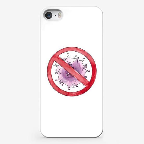 Чехол iPhone «Корона, уходи. No COVID - 19»