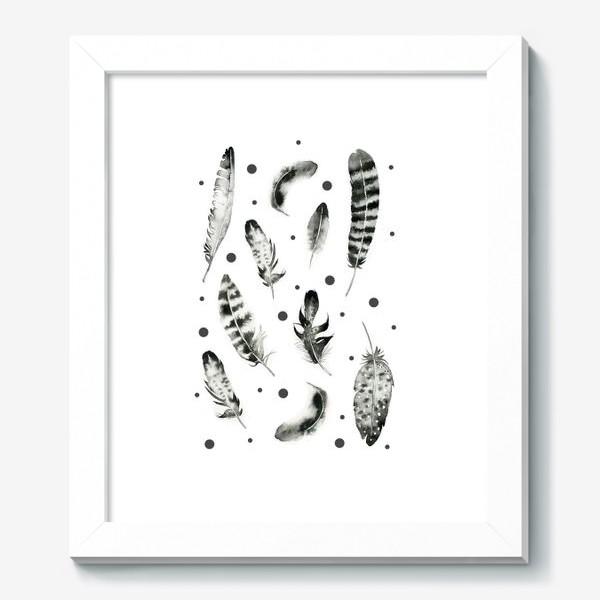 Картина «Черно-белые перья»