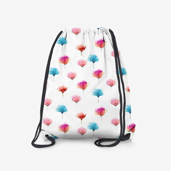 Рюкзак «Акварельный паттерн с абстрактными цветами»