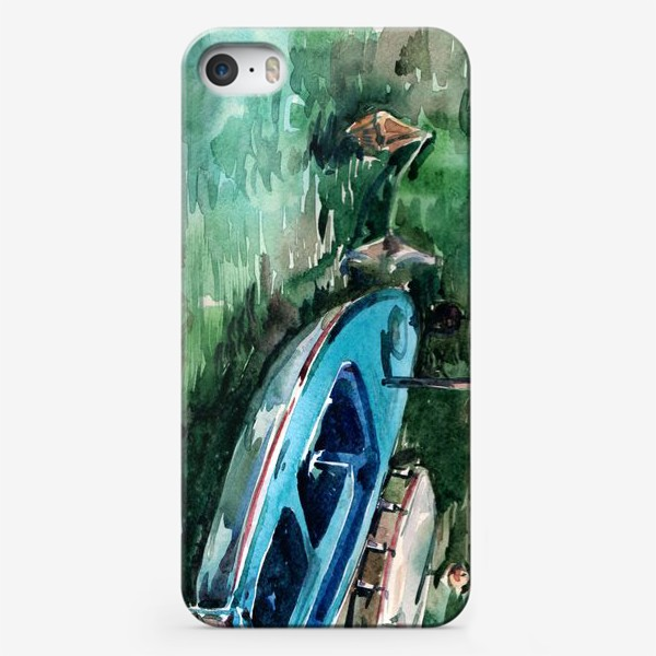 Чехол iPhone «Голубая лодка»