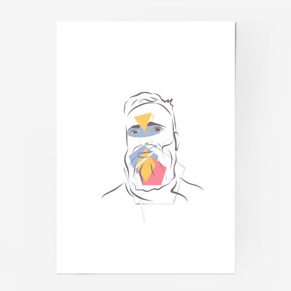 Постер «Силуэты. Линии. Лица.»