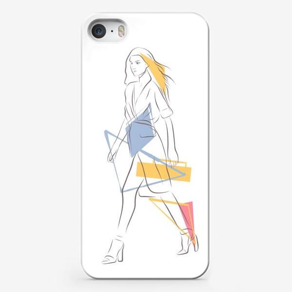 Чехол iPhone «Силуэты. Линии. Лица.»