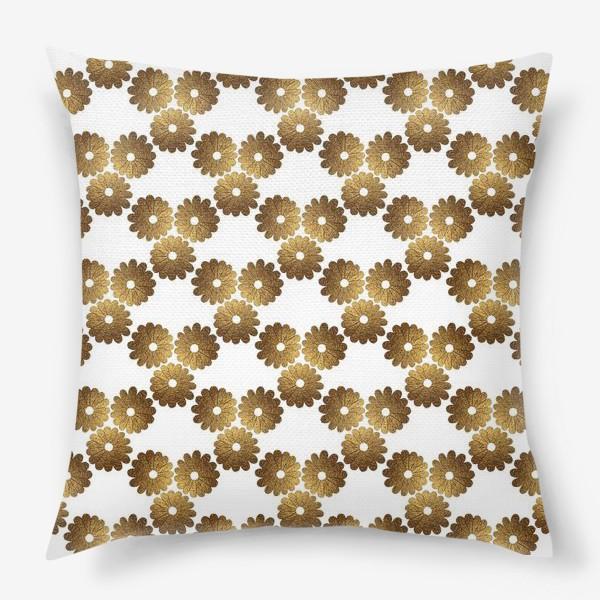 Подушка «Золотые цветы»