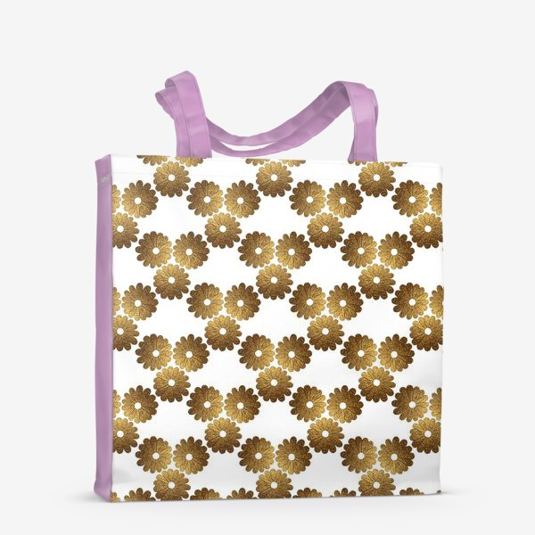 Сумка-шоппер «Золотые цветы»