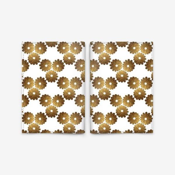 Обложка для паспорта «Золотые цветы»