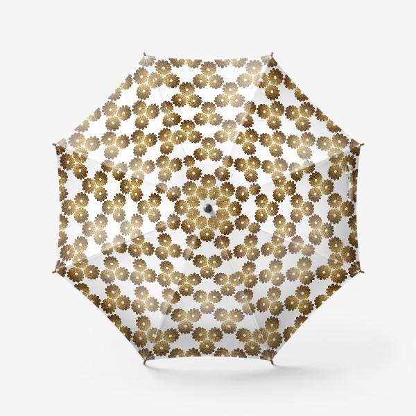 Зонт «Золотые цветы»