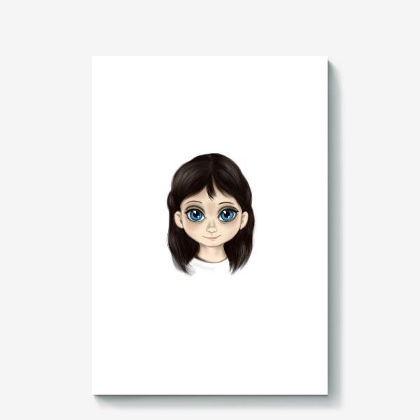 Холст «Маленькая девочка со взглядом лучистым. Большие глаза»