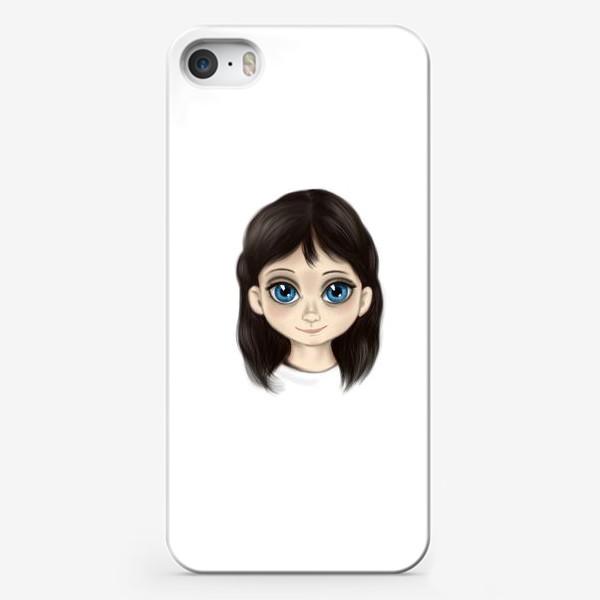 Чехол iPhone «Маленькая девочка со взглядом лучистым. Большие глаза»