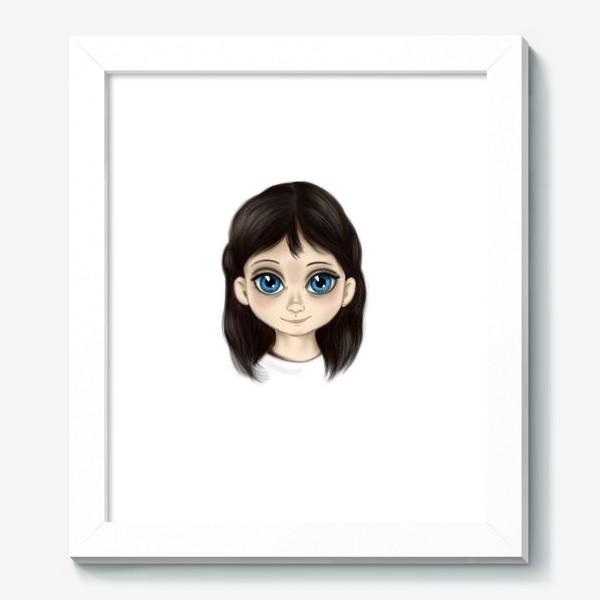 Картина «Маленькая девочка со взглядом лучистым. Большие глаза»