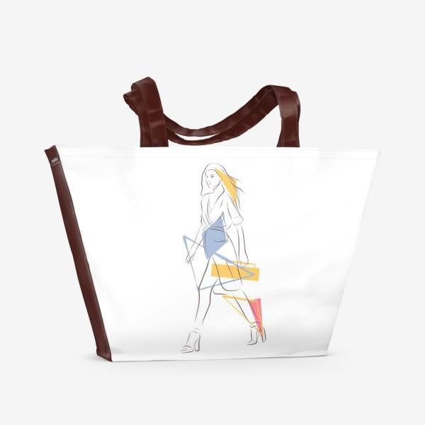 Пляжная сумка «Силуэты. Линии. Лица.»