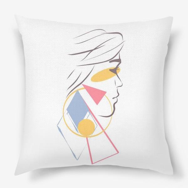 Подушка «Силуэты. Линии. Лица.»