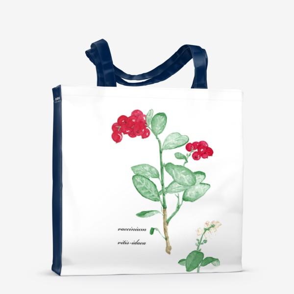 Сумка-шоппер «Брусника(vaccinium vitis-idaea)»