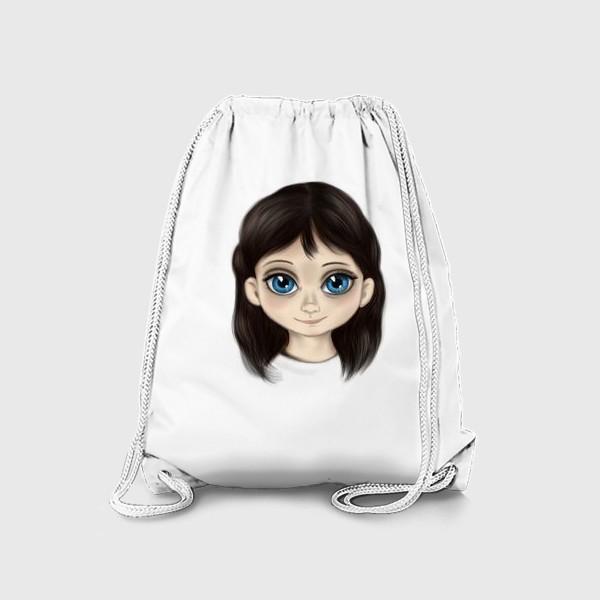 Рюкзак «Маленькая девочка со взглядом лучистым. Большие глаза»