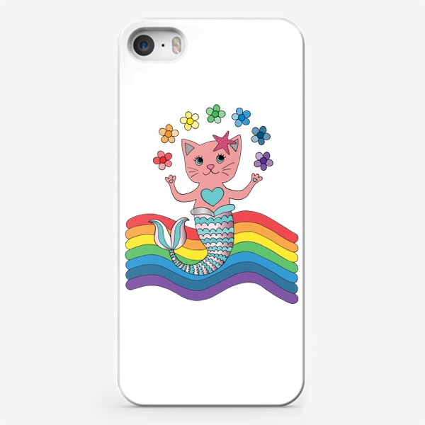 Чехол iPhone «Кот-русалка»