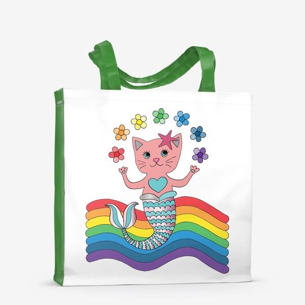 Сумка-шоппер «Кот-русалка»