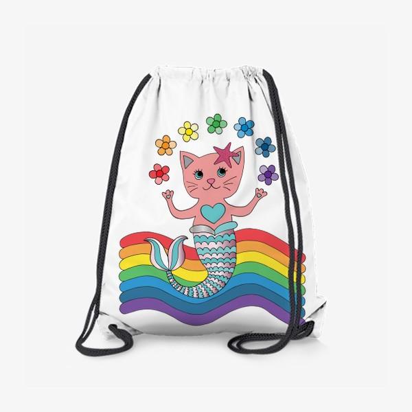 Рюкзак «Кот-русалка»