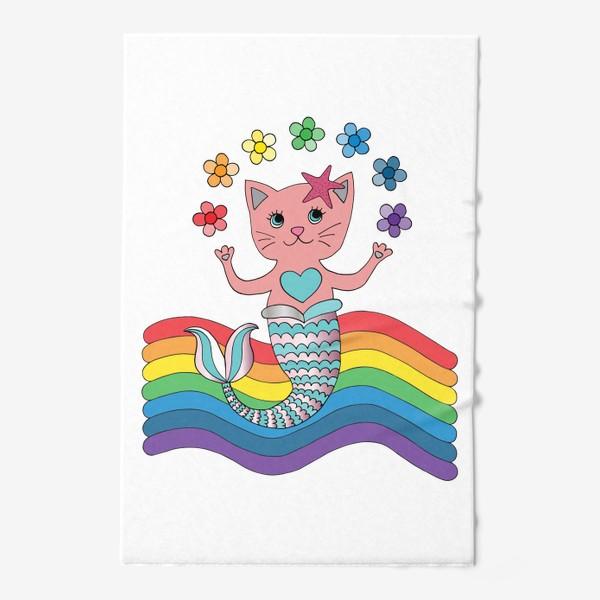 Полотенце «Кот-русалка»