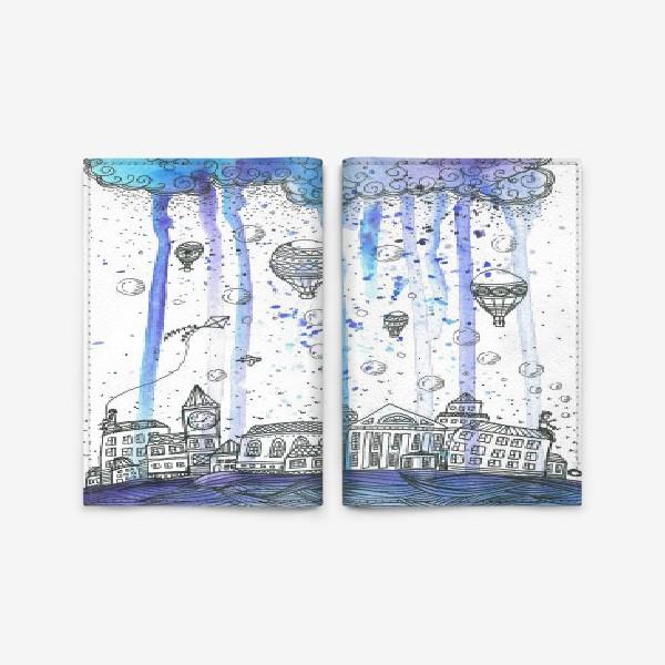 Обложка для паспорта «дождливый Петербург»