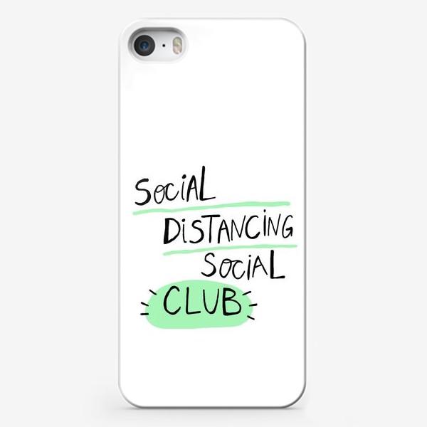 Чехол iPhone «клуб любителей дистанции. Коронавирус»