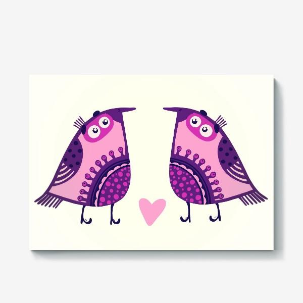 Холст «Мои птички 2»